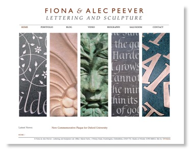 Fiona & Alec Peever ~ Lettering and Scuplture ~ Home